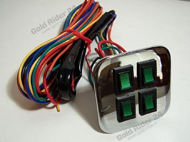 Chrome et interrupteurs panneau de contrôle droit