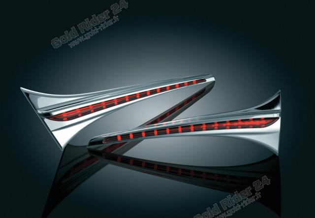 Chromes lumineux latéraux top-case