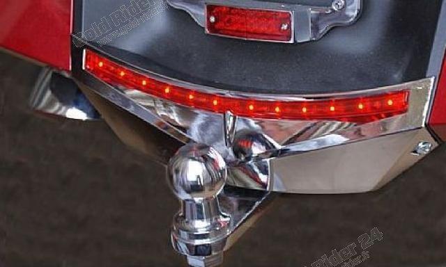 Chrome de garde boue arrière lumineux