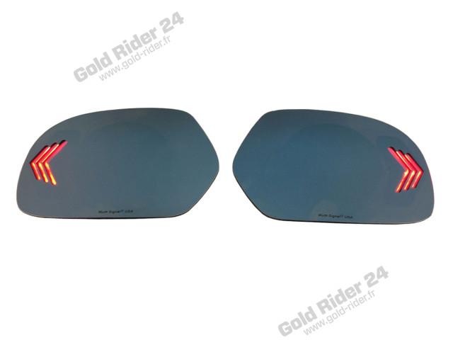 Miroirs de rétroviseurs bleutés à leds