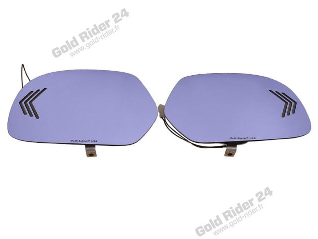 Miroirs bleus de rétroviseurs à leds