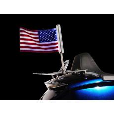 Supports porte-drapeau lumineux