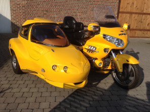 Goldwing GL1800 année 2005 + side-car Hannigan GTL
