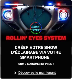Découvrez le system Rollin'Eyes pour créer votre éclairage via votre smartphone