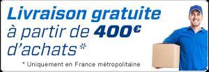 Livraison gratuite à partir de 400 euros d'achats